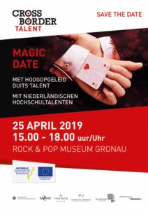 """c2fb7b9f3beb2a """"Magic date"""" mit niederländischen Hochschultalenten am 25.4.2019 für deutsche  und niederländische Firmen im Rock n Pop Museum Gronau"""